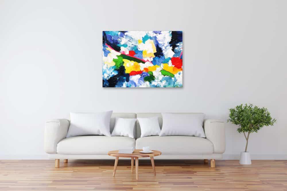 Acryl Gemälde abstrakt farbiges Spiel bild kaufen