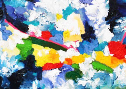 Acryl Gemälde abstrakt farbiges Spiel