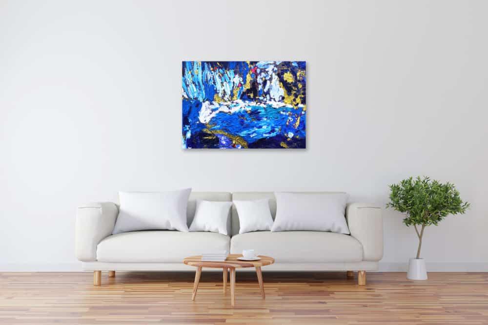 Acryl Gemälde abstrakt Gold Blau bild kaufen