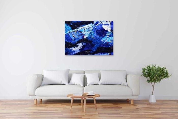 Acryl Gemälde abstrakt tief Blau bild kaufen