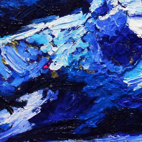 Acryl Gemälde abstrakt tief Blau