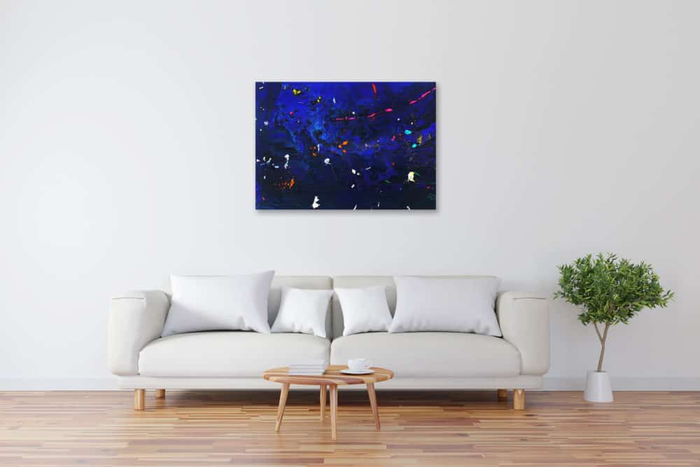 Acryl Gemälde abstrakt tief dunkles Blau bild kaufen