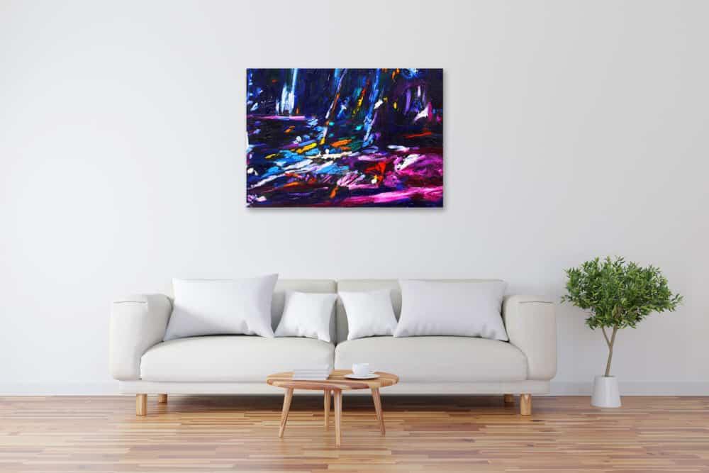 Acryl Gemälde abstrakte blaue Landschaft bild kaufen