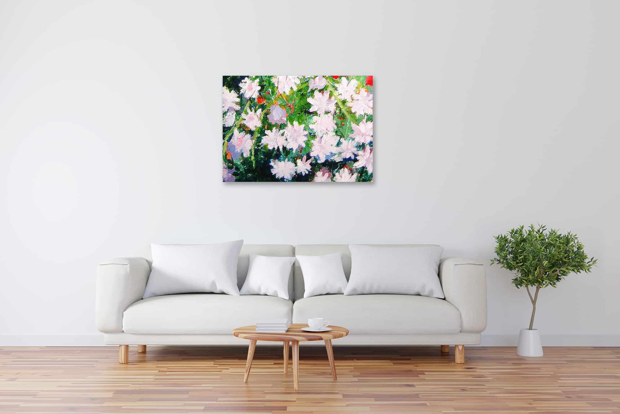Acryl Gemälde abstrakte Blumen bild kaufen