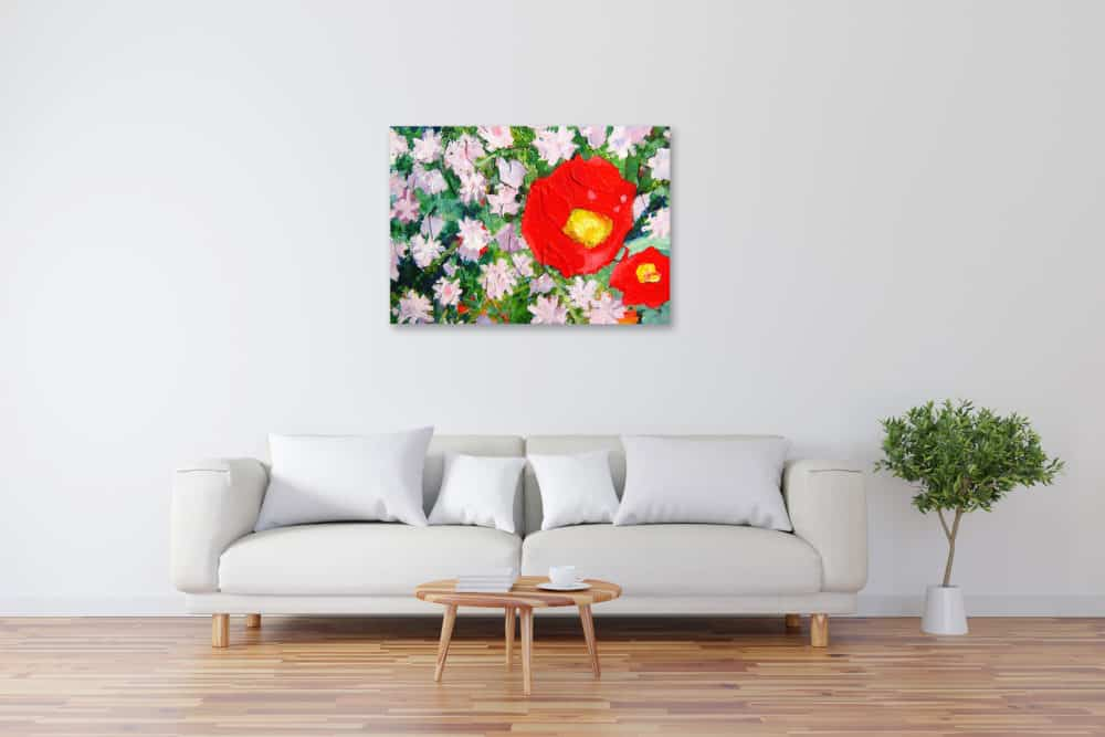 Acryl Gemälde abstrakte Blumen Frühling bild kaufen
