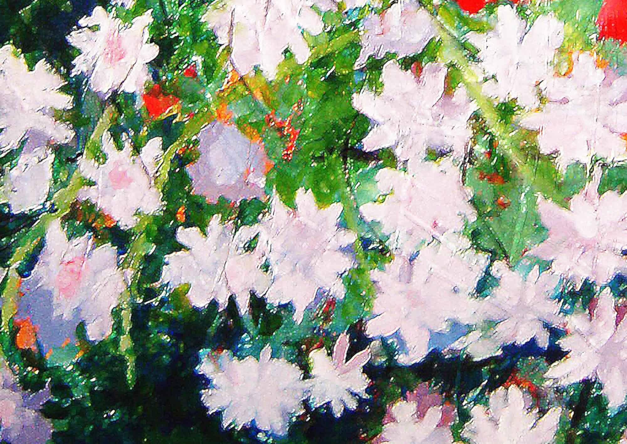 Acryl Gemälde abstrakte Blumen