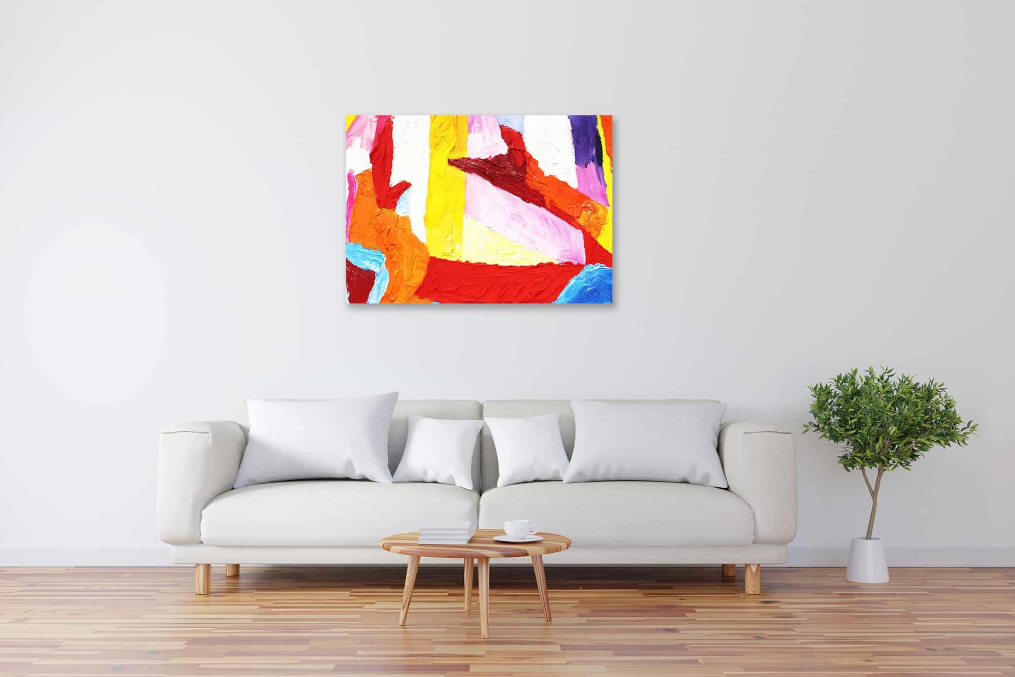 Acryl Gemälde abstrakte bunte Spielerei bild kaufen