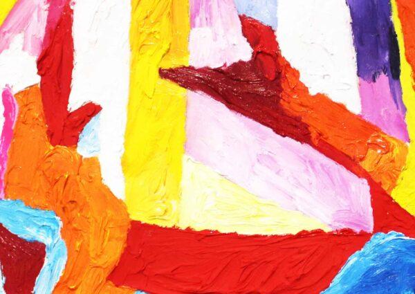 Acryl Gemälde abstrakte bunte Spielerei