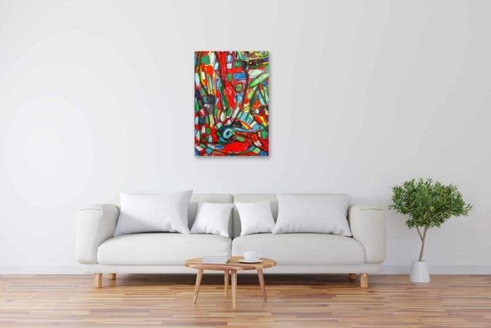 Acryl Gemälde abstrakte farbige Flächen Kontrast bild kaufen