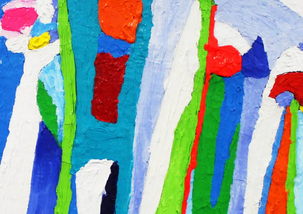 Acryl Gemälde abstrakte farbige Spielerei