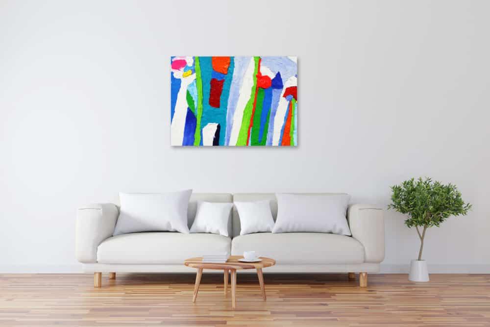 Acryl Gemälde abstrakte farbige Spielerei bild kaufen