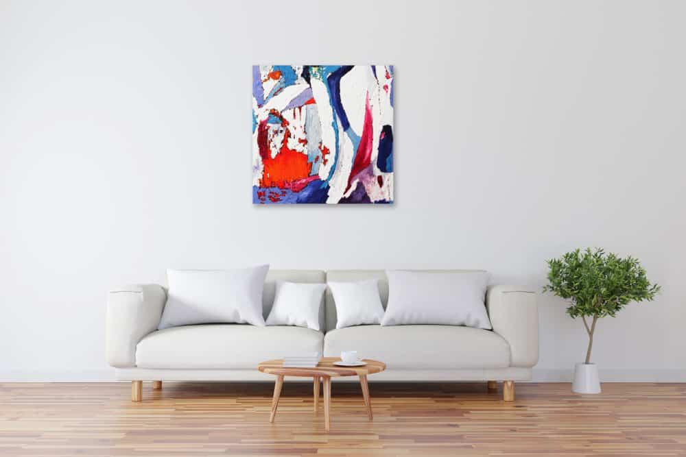 Acryl Gemälde abstrakte Form bild kaufen