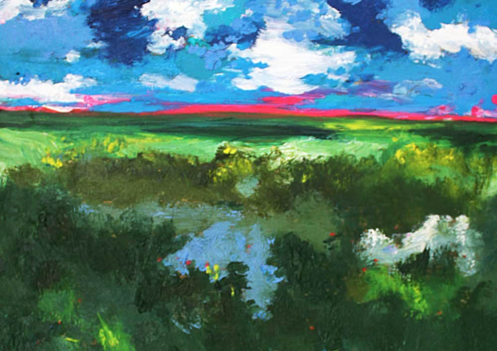 Acryl Gemälde abstrakte Landschaft