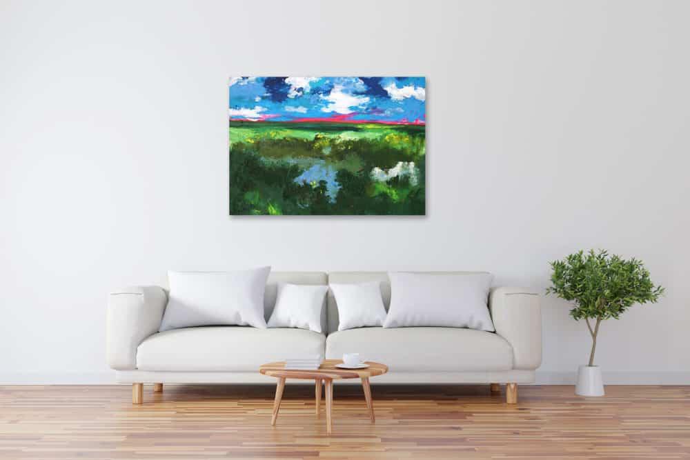 Acryl Gemälde abstrakte Landschaft bild kaufen