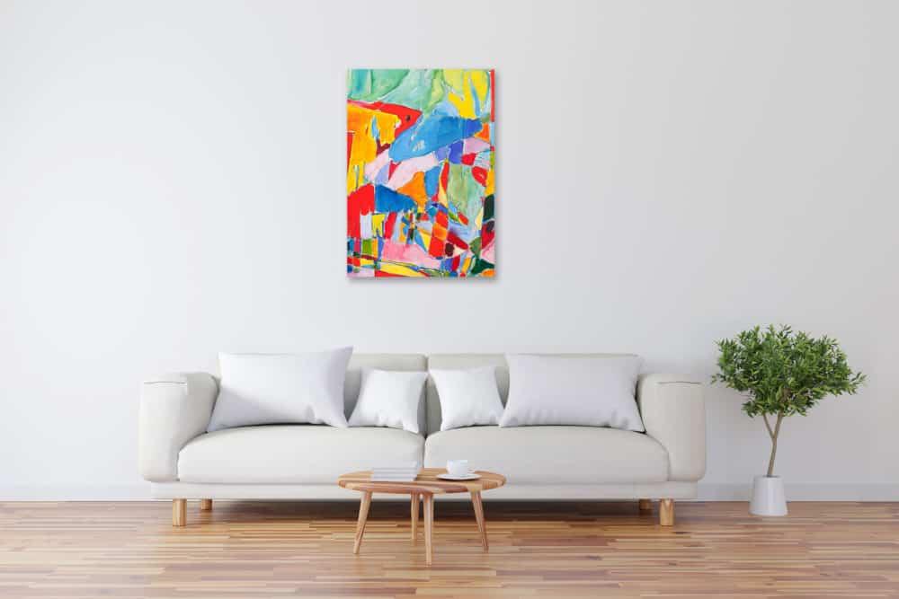 Acryl Gemälde abstrakte spielerische Flächen bild kaufen