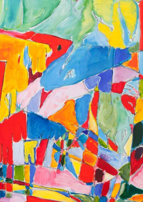 Acryl Gemälde abstrakte spielerische Flächen