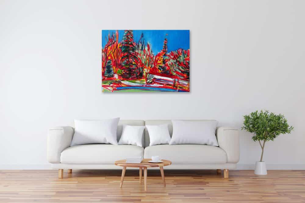 Acryl Gemälde abstrakter botanischer Garten bild kaufen