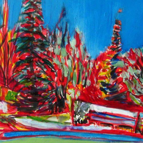 Acryl Gemälde abstrakter botanischer Garten