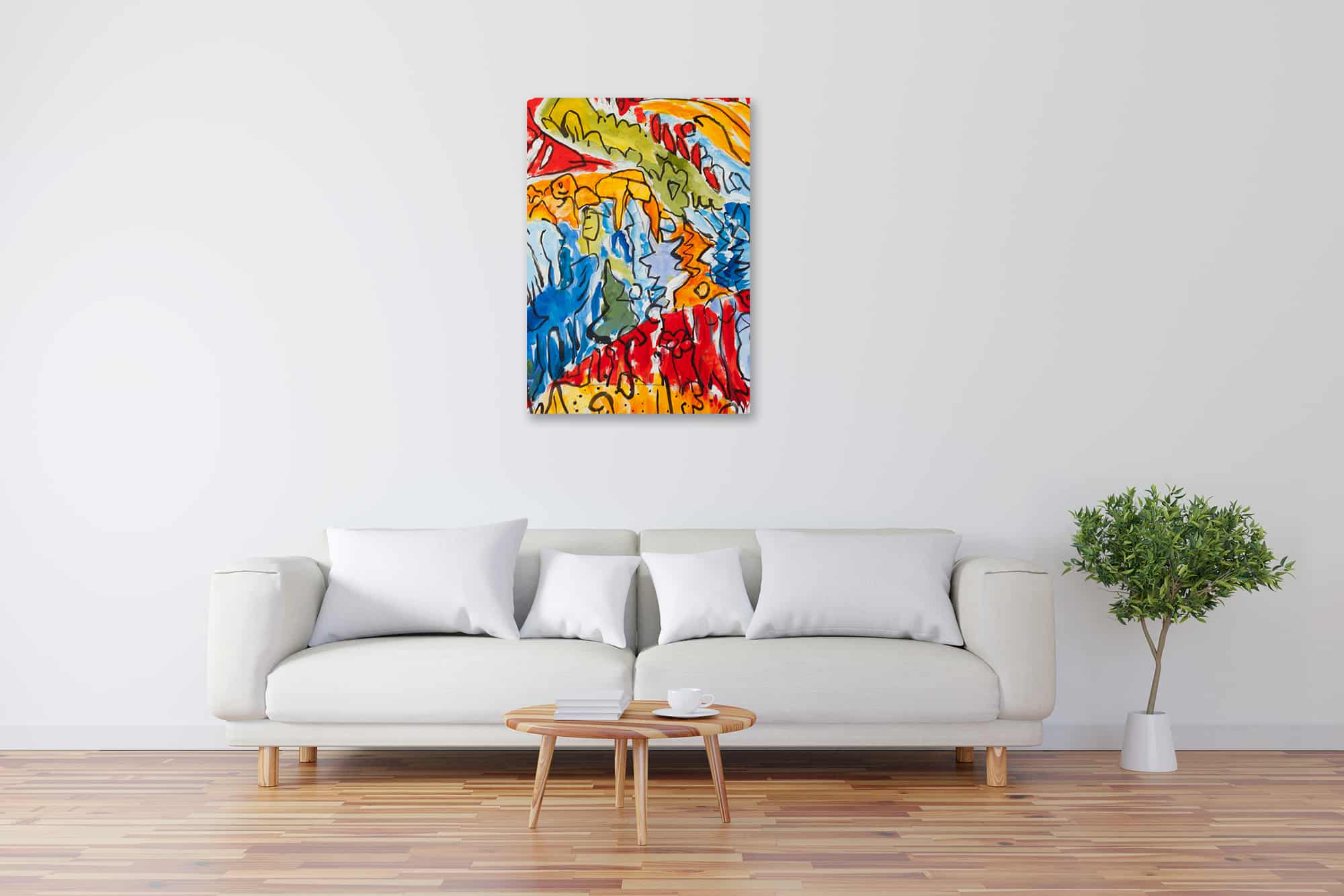 Acryl Gemälde abstrakter expressiver Wald bild kaufen