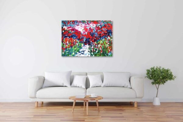 Acryl Gemälde abstrakter feuriger Himmel bild kaufen