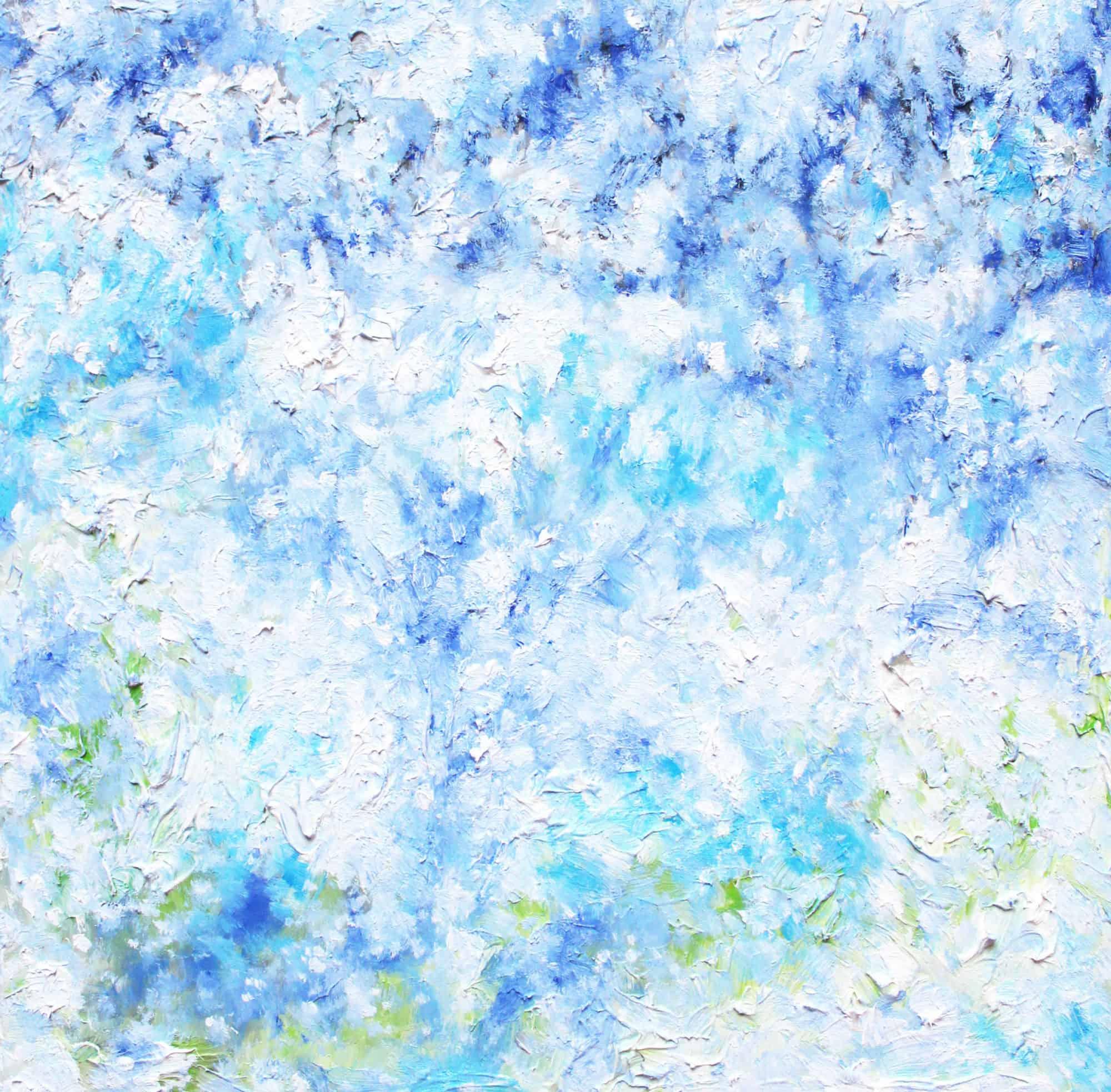 Acryl Gemälde abstrakter Himmel