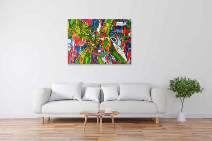 Acryl Gemälde abstrakter Stern am Himmel expressiv bild kaufen
