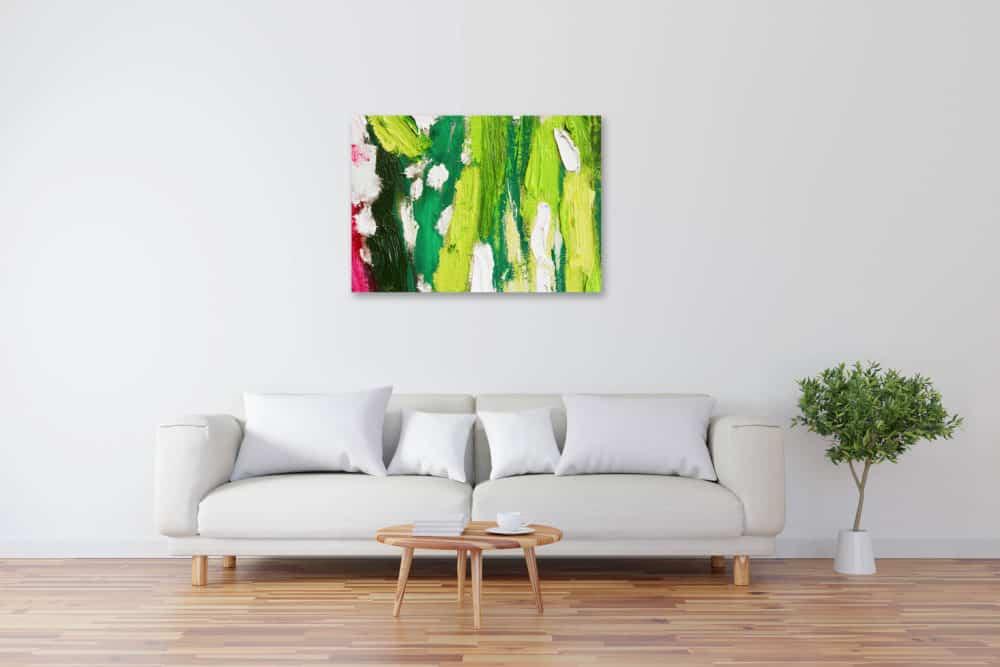 Acryl Gemälde abstraktes helles Grün bild kaufen