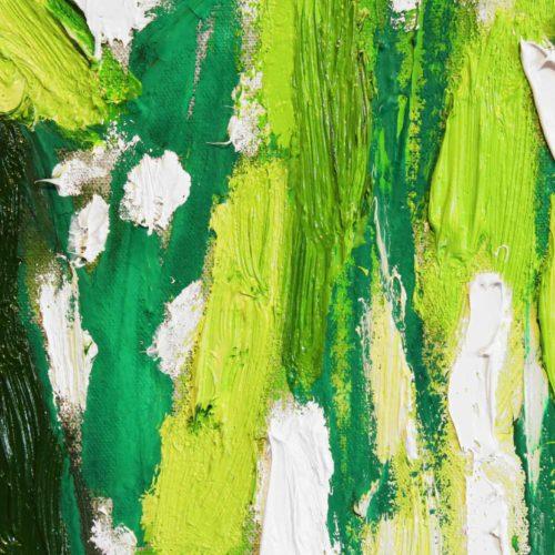 Acryl Gemälde abstraktes helles Grün