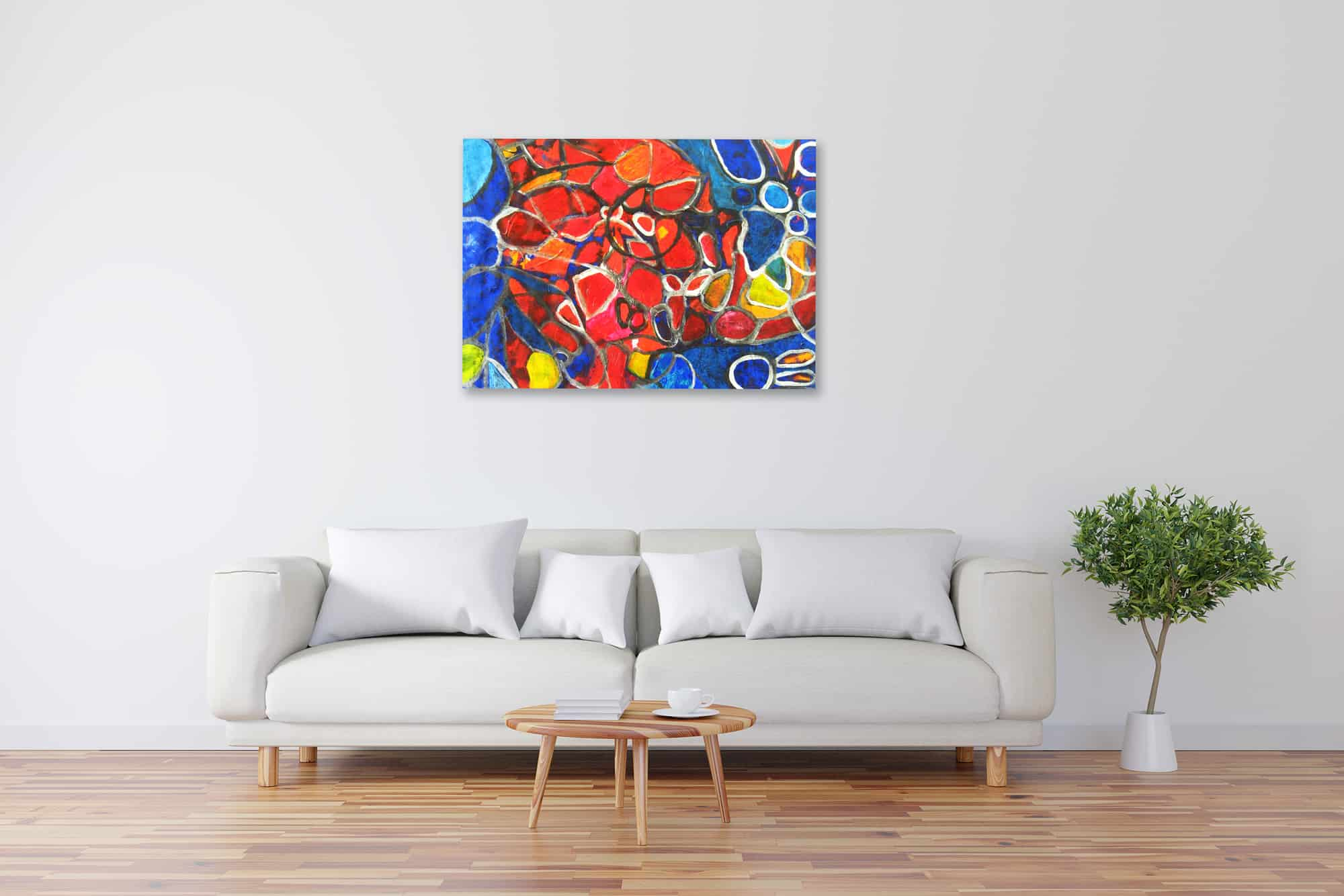 Acryl Gemälde abstraktes Mosaik bild kaufen