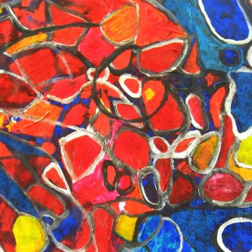 Acryl Gemälde abstraktes Mosaik
