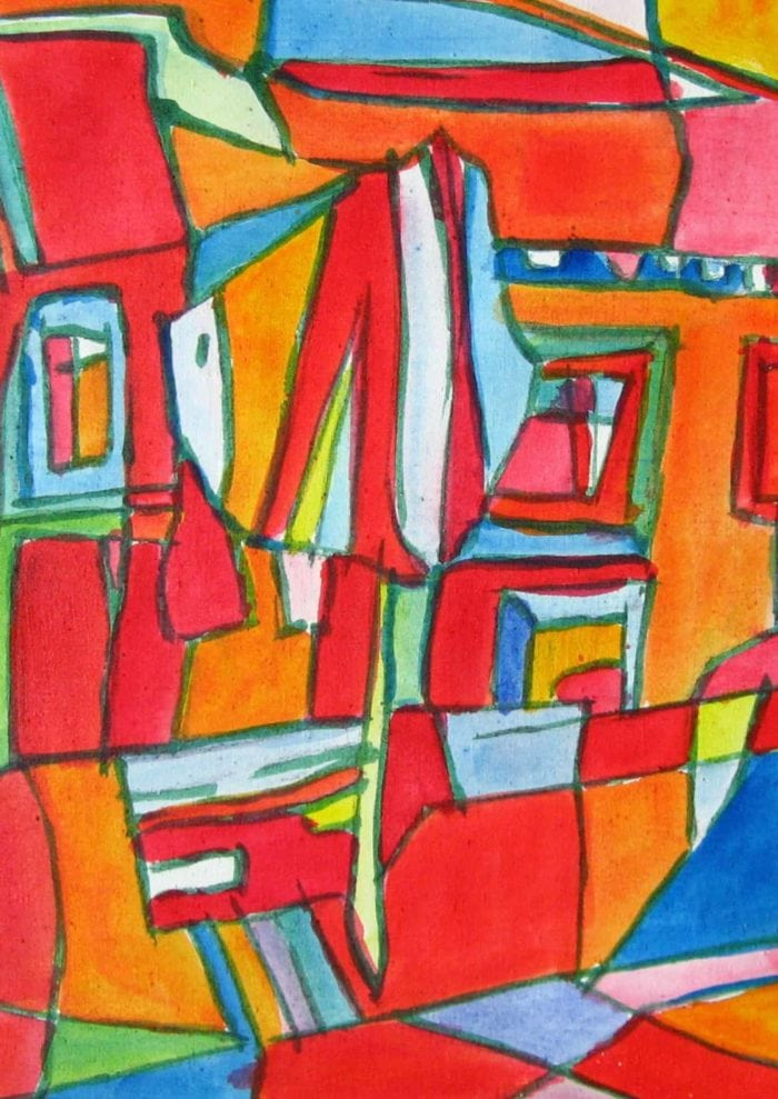 Acryl Gemälde expressiv Abstrakt