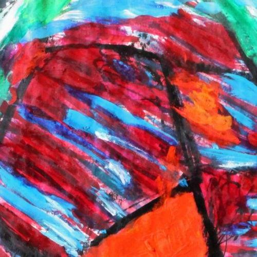 Acryl Gemälde Glück