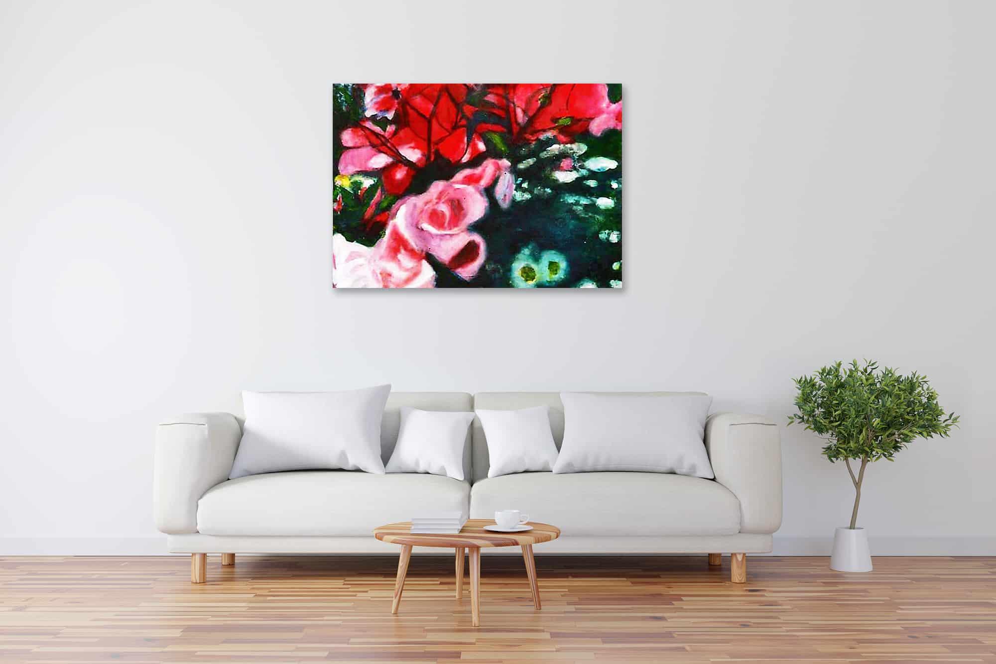 Acryl Gemälde Rosen bild kaufen