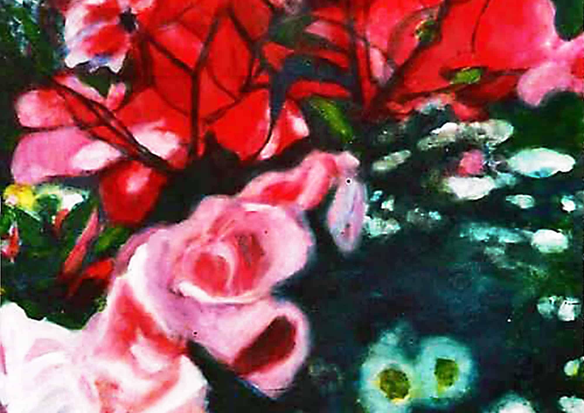 Acryl Gemälde Rosen