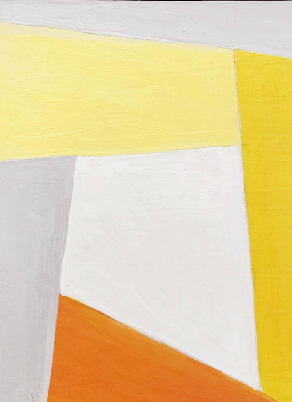 Acrylbild konkret Orange
