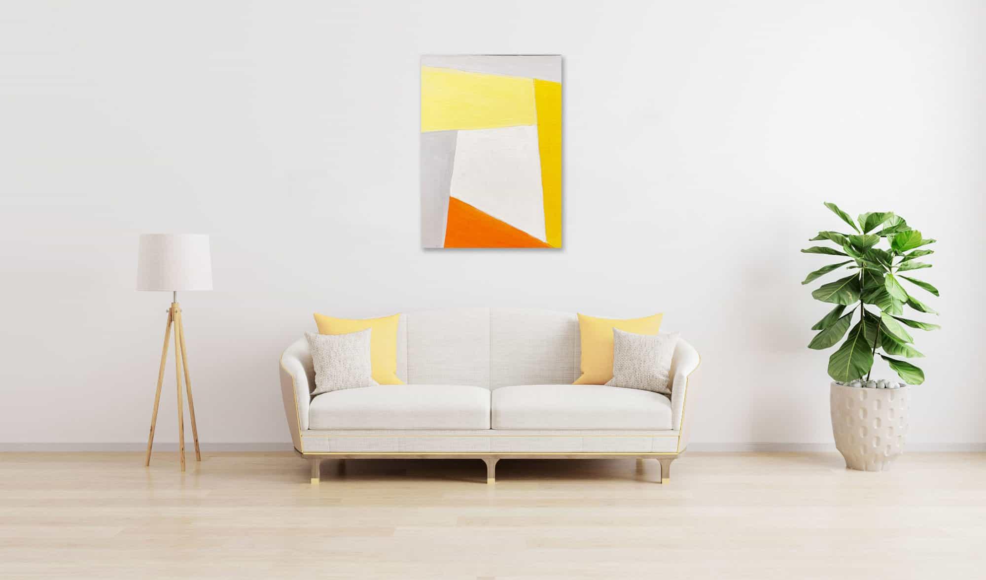 Acrylbild konkret Orange wandbild