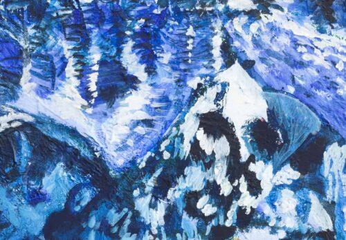 Ölgemälde auf Leinwand Berge mit Schnee