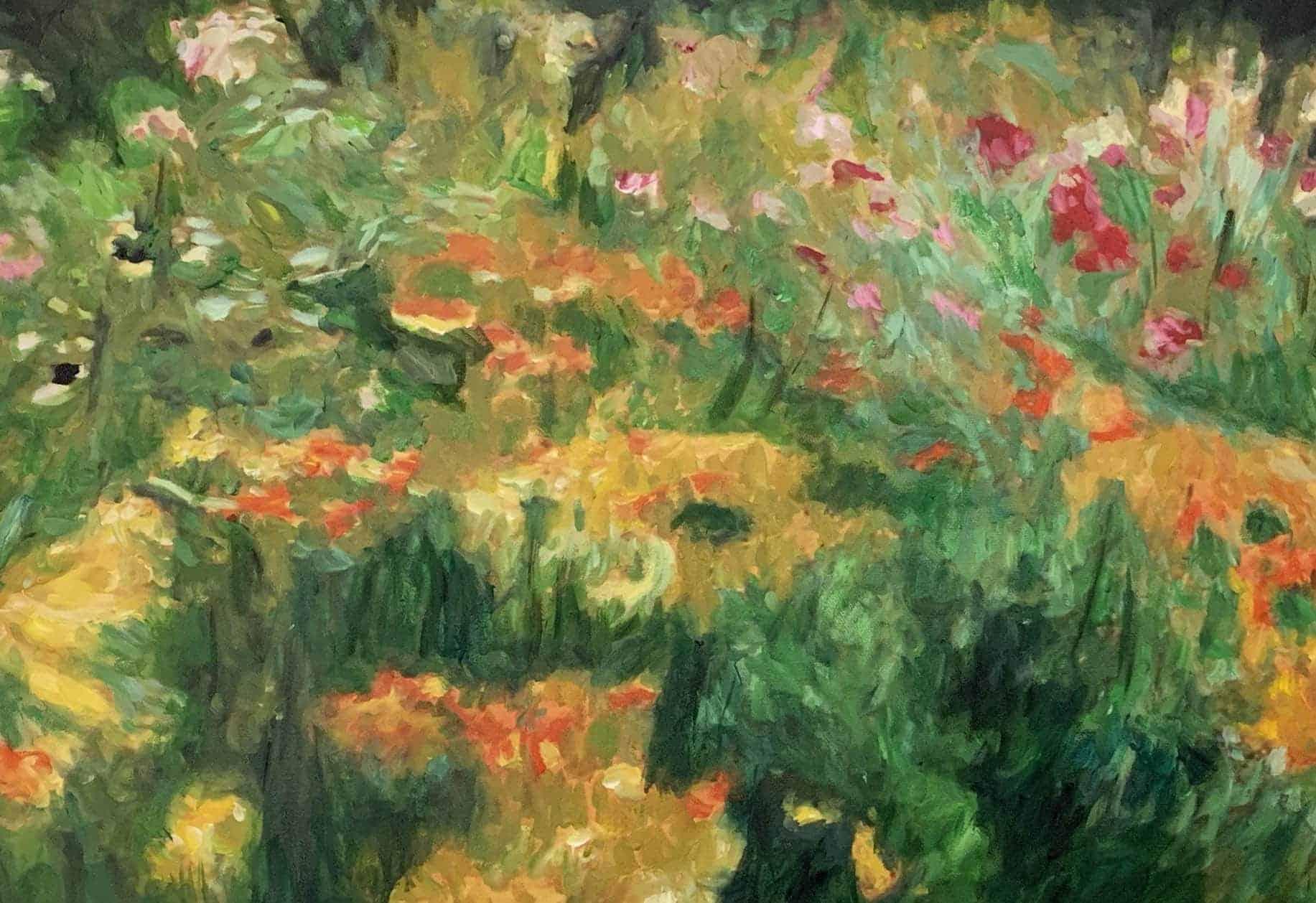 Ölgemälde auf Leinwand Blumen und Wiese