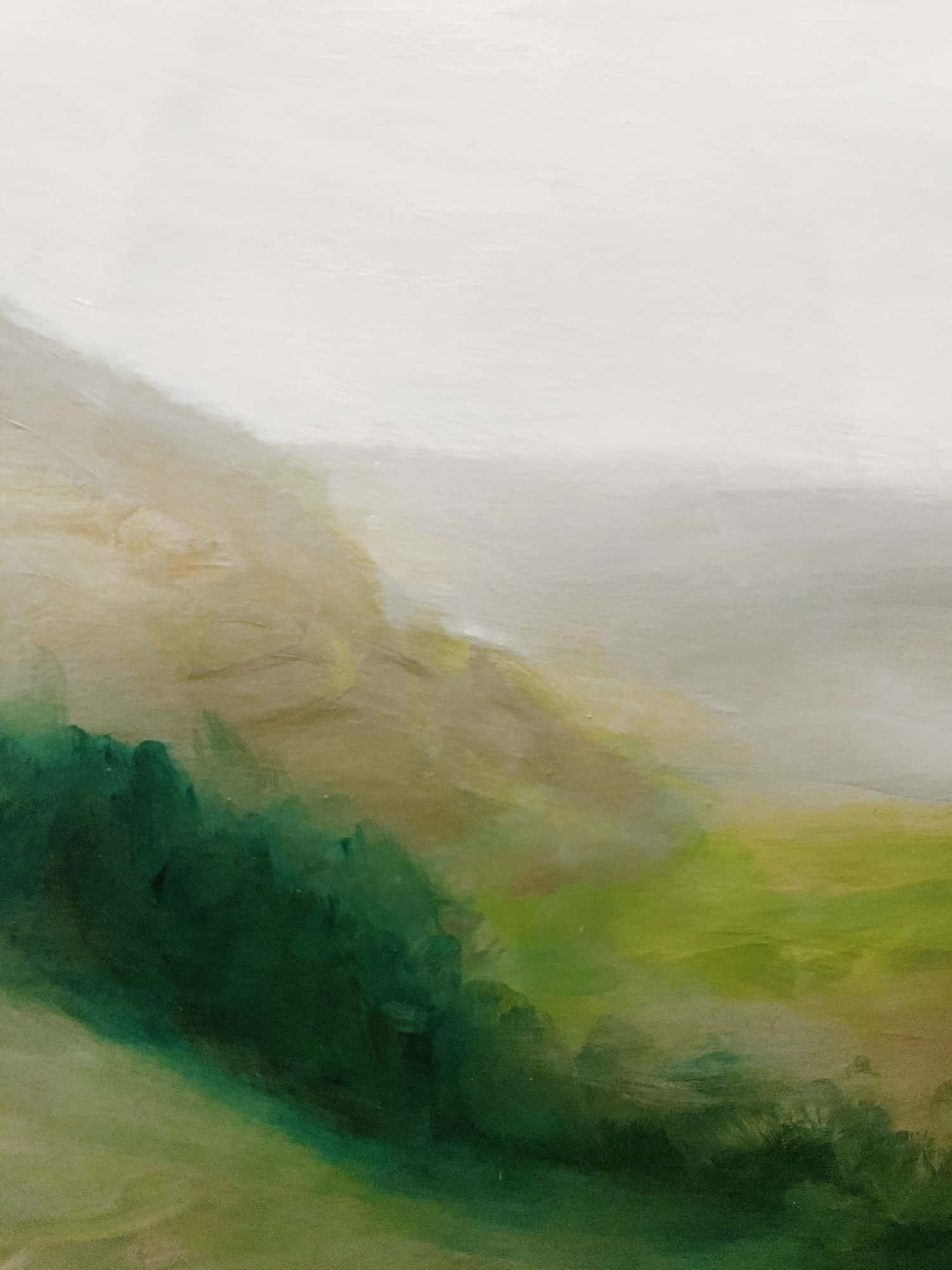 Ölgemälde auf Leinwand Landschaft im Nebel