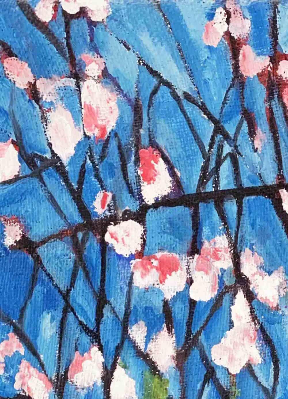 Ölgemälde auf Leinwand Magnolien im Frühling