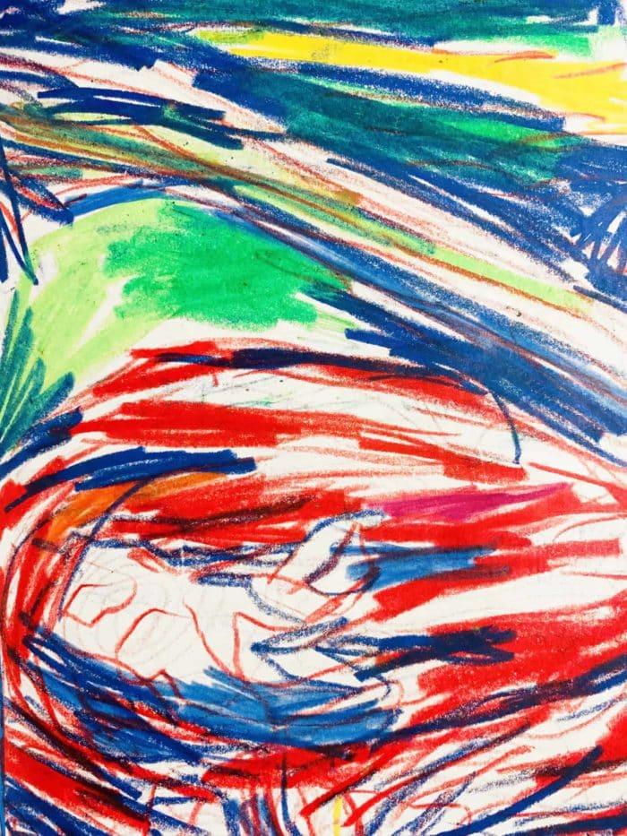 Ölgemälde auf Leinwand Rot Grün Blau