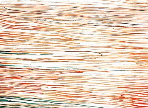 Ölgemälde auf Leinwand Rot Orange Linien
