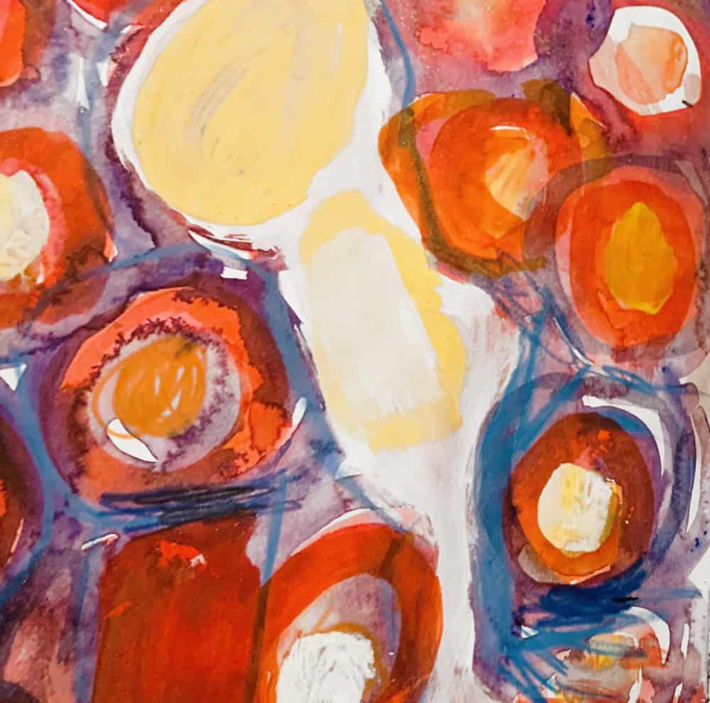 Ölgemälde auf Leinwand abstrakte Blüten