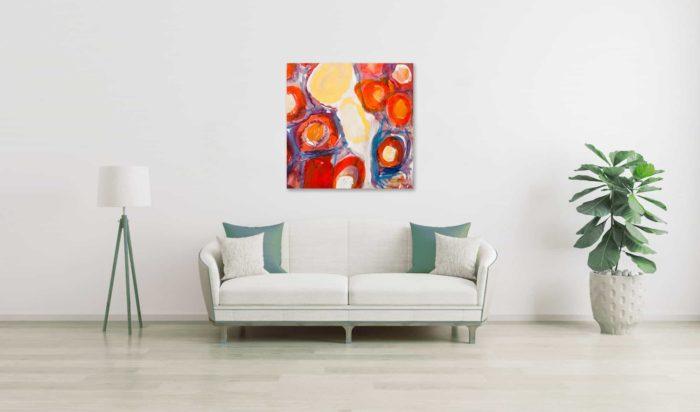 Ölgemälde auf Leinwand abstrakte Blüten wandbild
