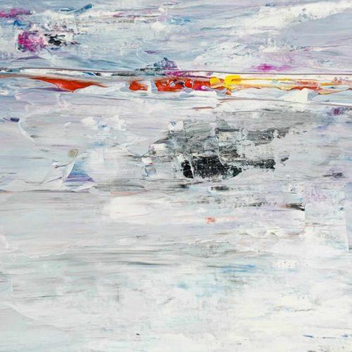 Ölgemälde auf Leinwand abstrakte Landschaft mit Rot