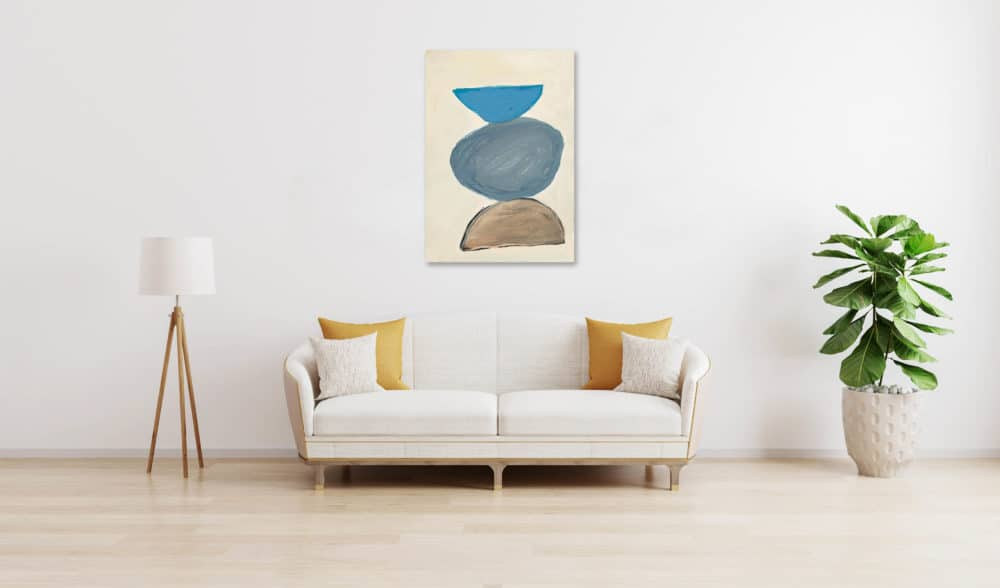 Ölgemälde auf Leinwand abstrakte Steine wandbild
