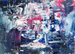Ölgemälde auf Leinwand abstraktes Blau