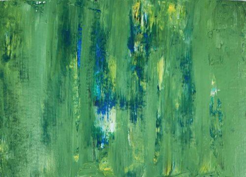 Ölgemälde auf Leinwand abstraktes Grün