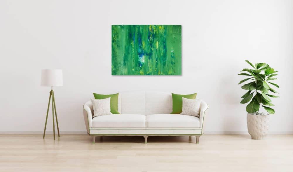 Ölgemälde auf Leinwand abstraktes Grün wandbild