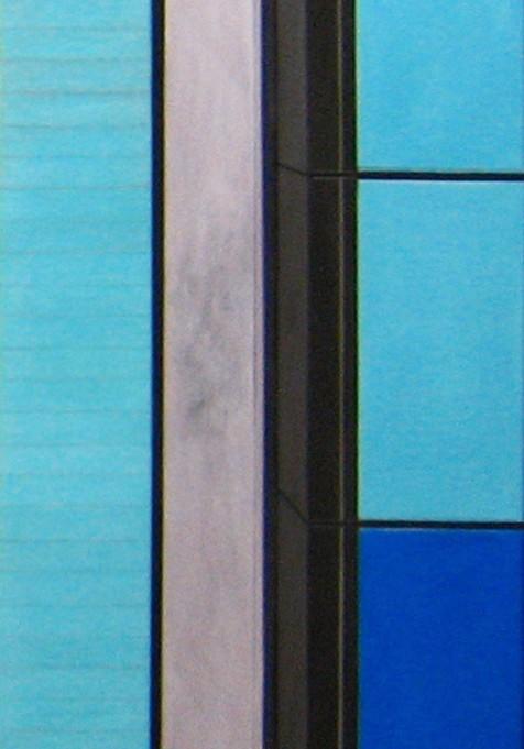 Ölgemälde auf Leinwand blau braune Flächen